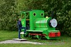 Lough Boora Discovery Park. Unidentified locomotive on display as Percy. Sun 26.05.19
