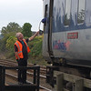 Signaller hands ETS to Driver on 452 16.08.2010