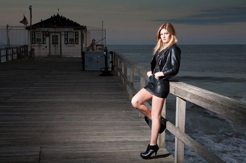 Megan, at Ocean Grove Pier