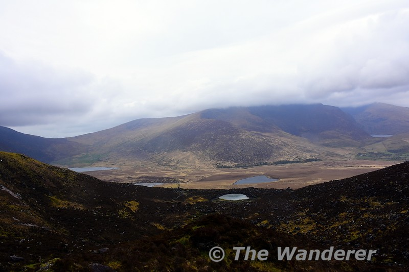 Views from the Connor Pass. One of the highest paved passes in Ireland at 1,496 ft., a twisting, narrow route with scenic views. Sat 17.04.21