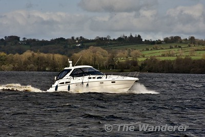 The Azul passes us heading south towards Killaloe. Mon 23.04.18