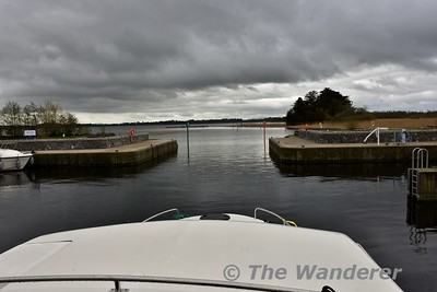 Leaving Castle Harbour in Portumna. Tues 24.04.18