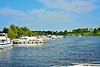 Passing Carrick-on-Shannon Waterway Ireland jetties. Sat 15.08.20