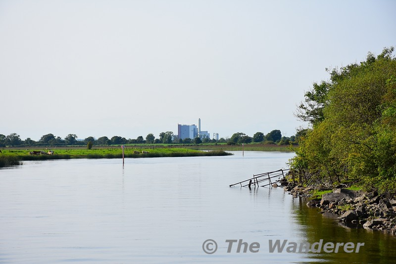 West Offaly Power Station looms into view. Sat 28.08.21