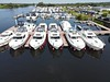 The Silverline base at Banagher. Our boat, Silver Shadow 360A is 3rd from right. Sat 28.08.21