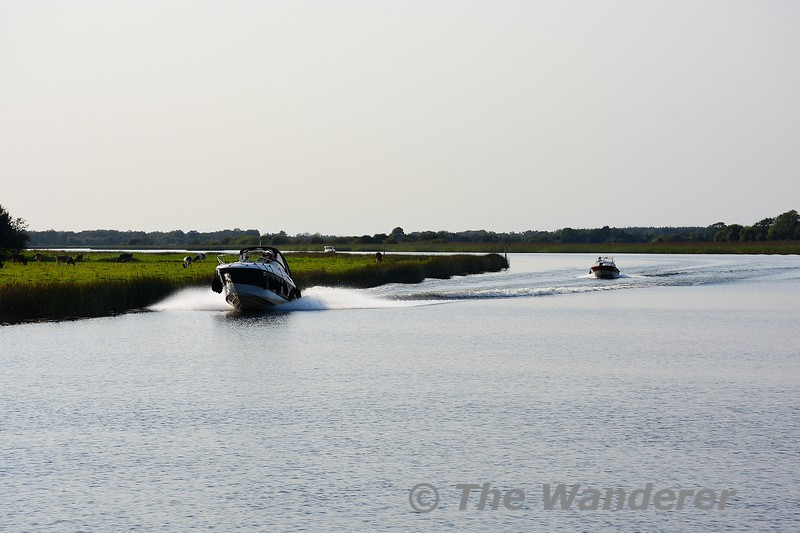Speedboats heading south. Sat 28.08.21