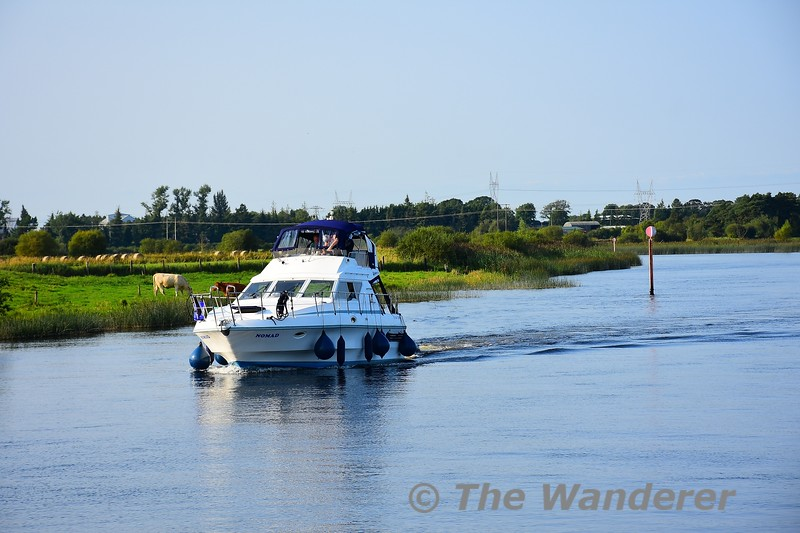 Heading south on the Shannon. Sat 28.08.21
