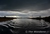 Dark clouds on the River Shannon. Wed 13.04.16