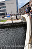 Some of the local youths were getting into the water theme by jumping off Spencer Dock Brige into the Royal Canal. Sat 25.08.12