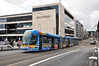 LUAS Tram 3004 currently carries an advertising livery for UPC. It is pictured on Mayor Street with a service to Saggart. Sat 25.08.12