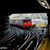 5707 approaches Farringdon with a Hammersmith & City Line. 060613