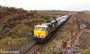 081 working the 0925 Ballina-North Wall IWT liner approaching Lisaniska crossing on the Ballina Branch. Fri 20.01.12. Photo: Noel Enright.