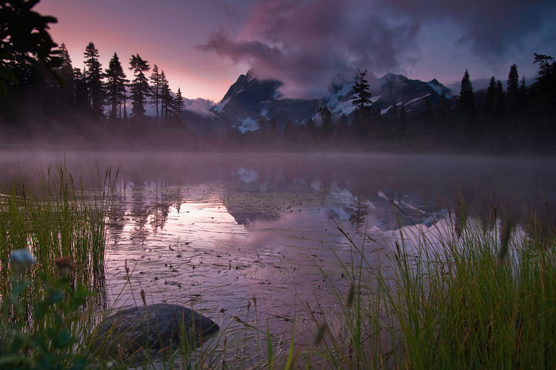Sunrise at Picture Lake<br /> Mt. Baker-Snoqualmie National Forest