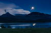 Moon Rising<br /> St. Mary's Lake<br /> Glacier National Park, Montana