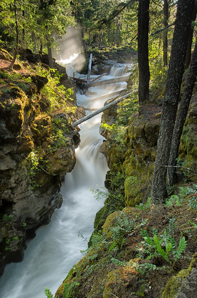 Flowing Water at the Rogue River Gorge