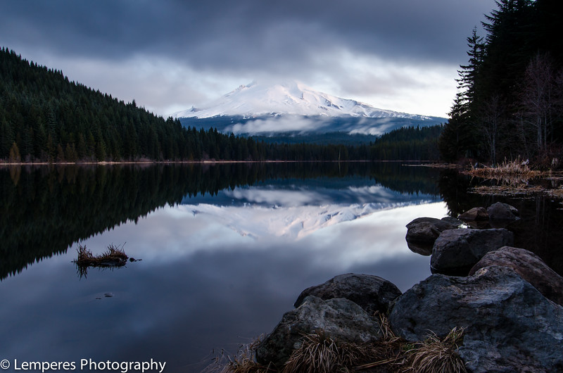 Mt Hood Lake Reflection<br /> Trillium Lake