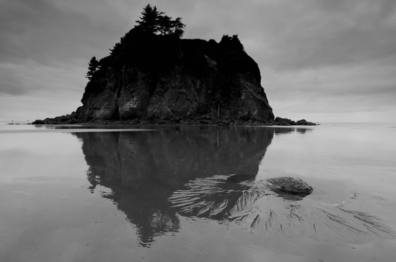 Stack Reflection<br /> Ruby Beach<br /> Olympic National Park