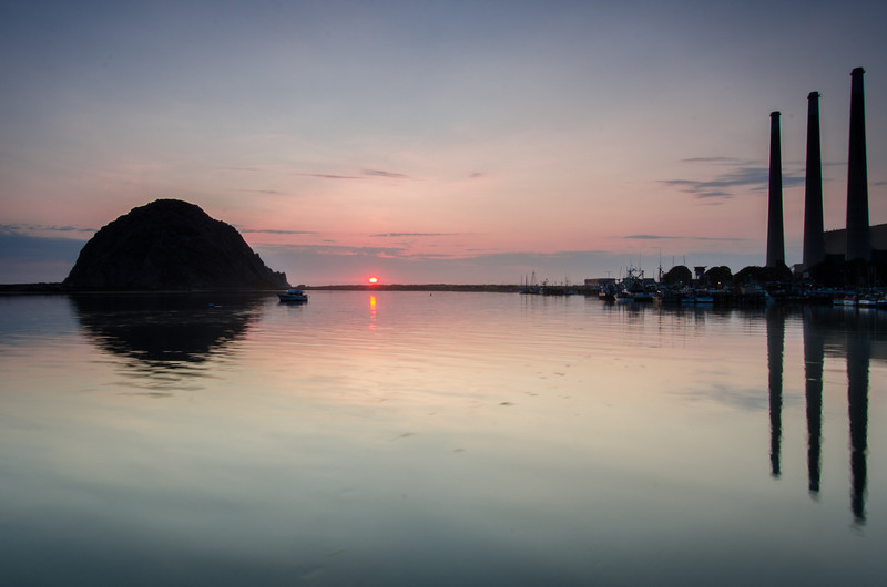 Morro Rock Sunset Reflection