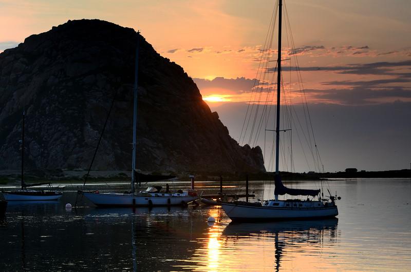 Setting Sun<br /> Morro Bay