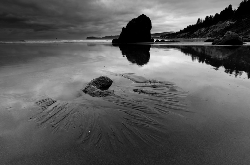 Ruby Beach Reflections<br /> Olympic National Park