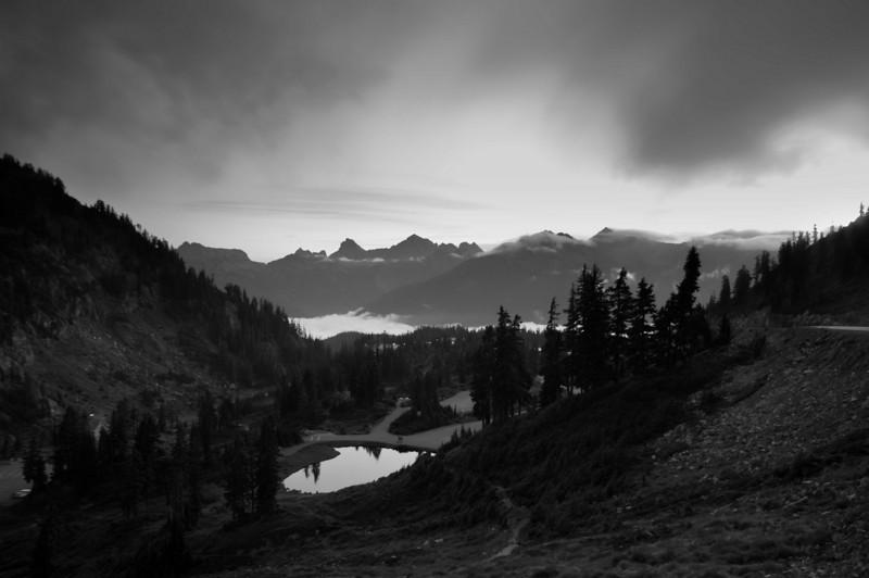Summer Sunrise on Artist Point Road<br /> Mt. Baker-Snoqualmie National Forest