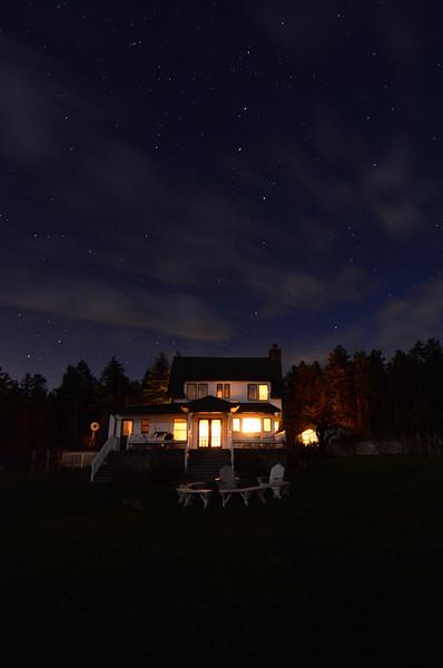 Farm House Night Sky<br /> Roche Harbor, WA