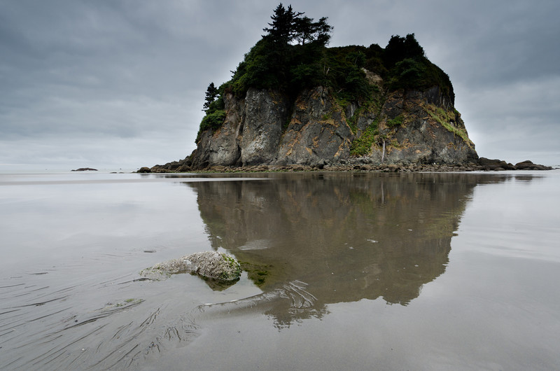 Ruby Beach Stack Reflection<br /> Olympic National Park