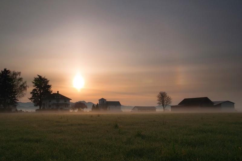 Farmhouse at Sunrise<br /> La Conner, WA