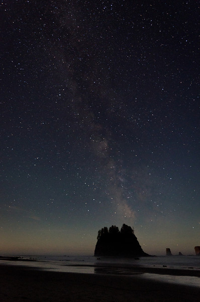 Night Sky<br /> Second Beach<br /> Olympic National Park