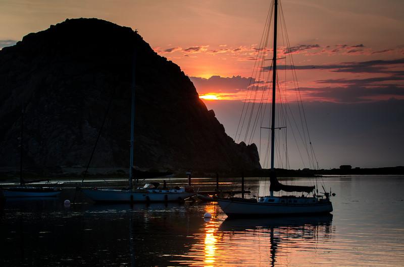 Morro Rock Sunset<br /> Morro Bay, California