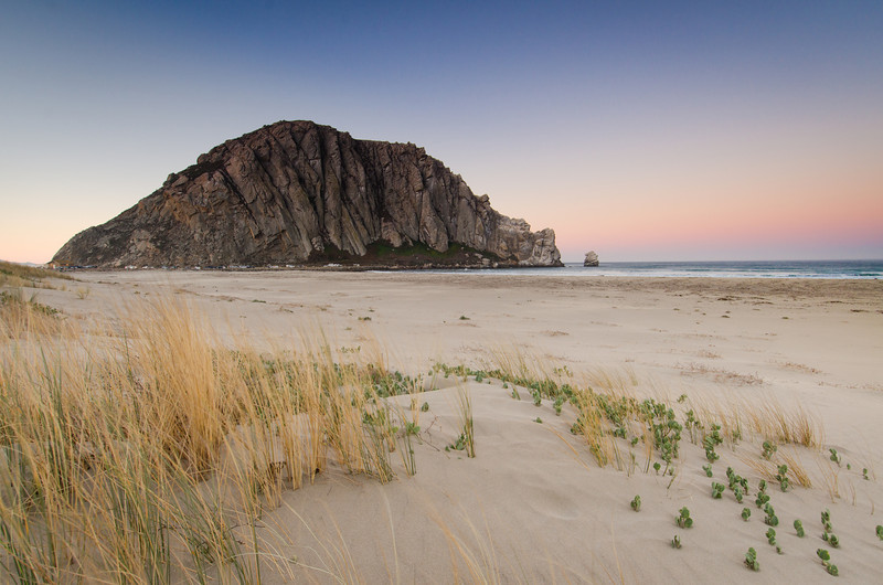 Morro Rock Sunset Color