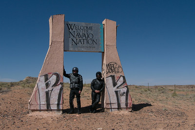 welcome to the navajo nation signpost, walt stinson, ford montgomery