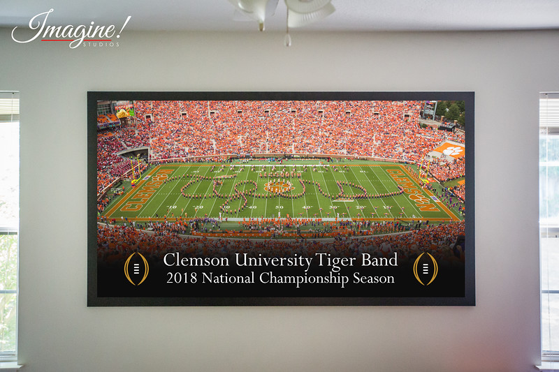 LIMITED EDITION 7'x4' LARGE Script Tigers Wall Art - 2018 National Championship Season - $300