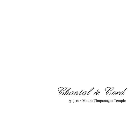 Chantal & Cord Wedding Album 01