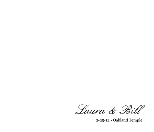 001 Laura & Bill Wedding Album 001 Title Page