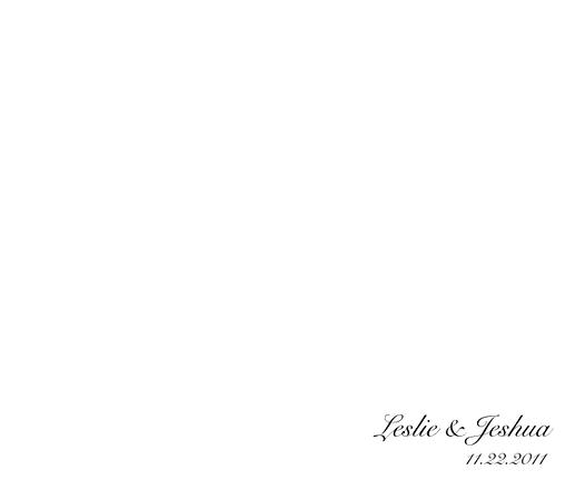 001 Leslie & Jeshua Wedding Album Title Page