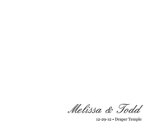 Melissa & Todd Wedding Album 001