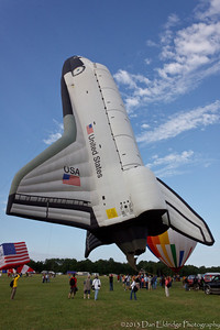 Space Shuttle Balloon: Largest flying hot air balloon in the world. 140% life size.