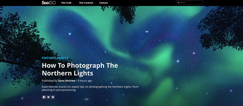 500PX Feature - Tutorial: How to Photograph the Northern Lights