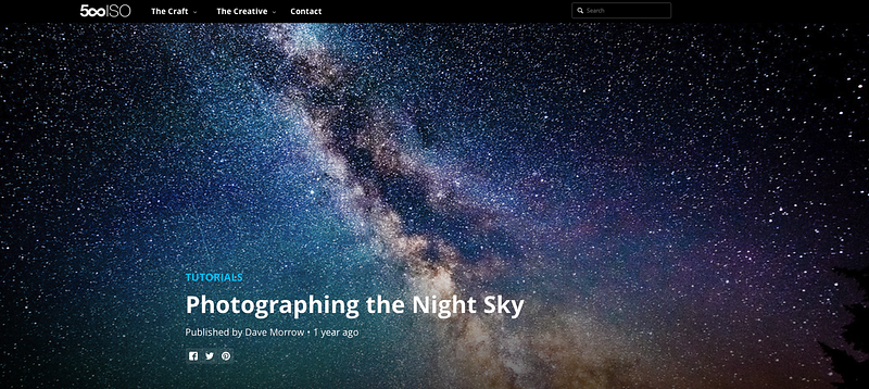 500PX Feature - Tutorial: Photographing the Night Sky