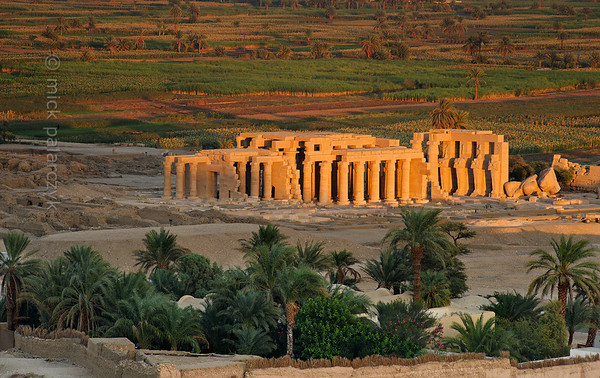 17-calendar-egypt-ramesseum  The Ramesseum or mortuary temple of Ramses II on the west bank in Luxor. Photo Mick Palarczyk.