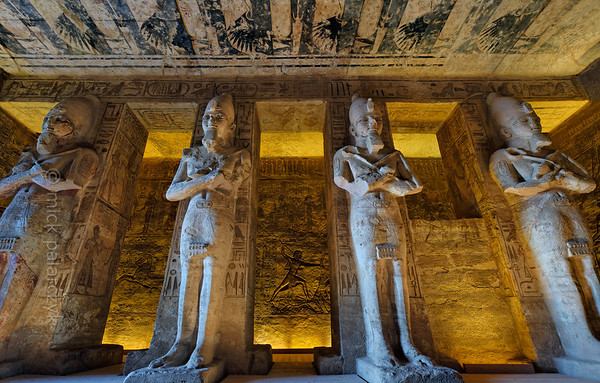 27-calendar-egypt-abusimbel  Statues of Ramses II in the cave temple of Abu Simbel. Photo Mick Palarczyk.