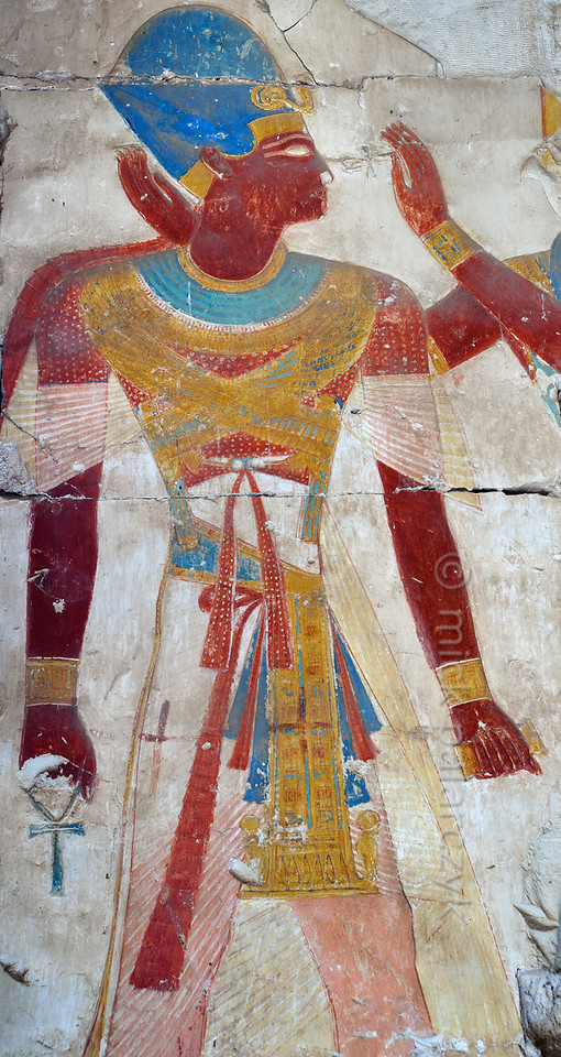 [Egypt 29986] 'Pharaoh in Ramses II Temple at Abydos.'