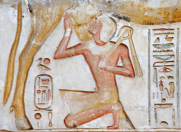 [Egypt 29978] 'Divine milk in Ramses II Temple at Abydos.'