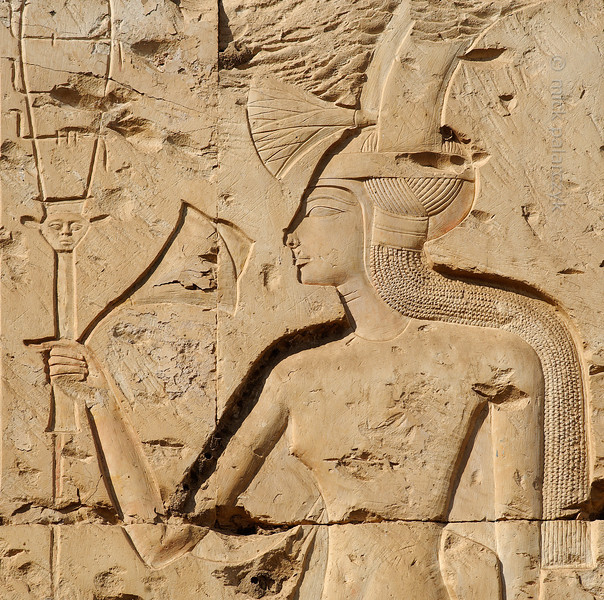 [Egypt 29977] 'Princess with sistrum at Abydos.'