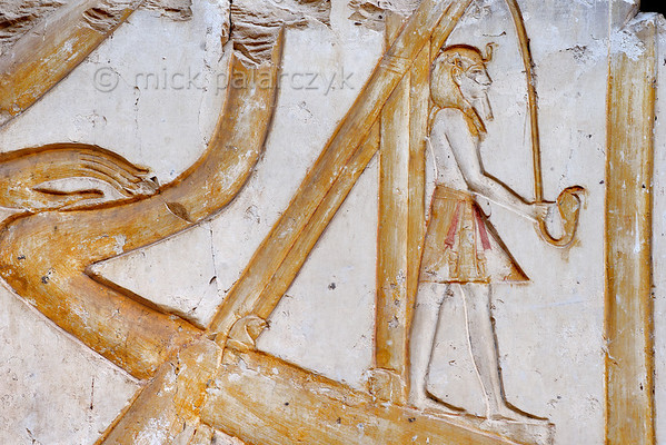 [Egypt 29979] 'Helmsman in Ramses II Temple at Abydos.'