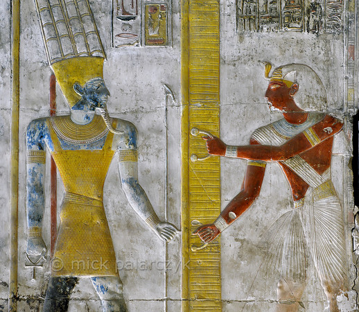 [Egypt 29882] 'Seti and Amun-Ra at Abydos.'