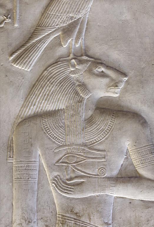 [Egypt 29963] 'Nefertem in Nefertem Chapel at Abydos.'