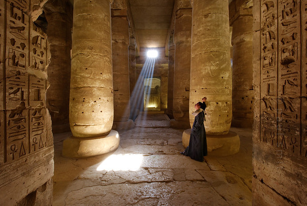 [Egypt 29853] 'Second hypostyle hall of Seti I Temple at Abydos.'
