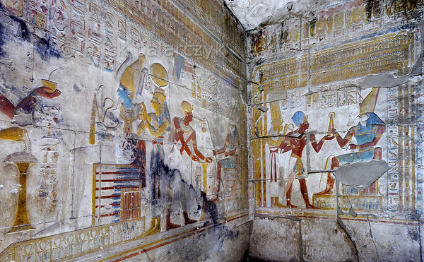 [Egypt 29915] 'Horus Shrine in Seti I Temple at Abydos.'